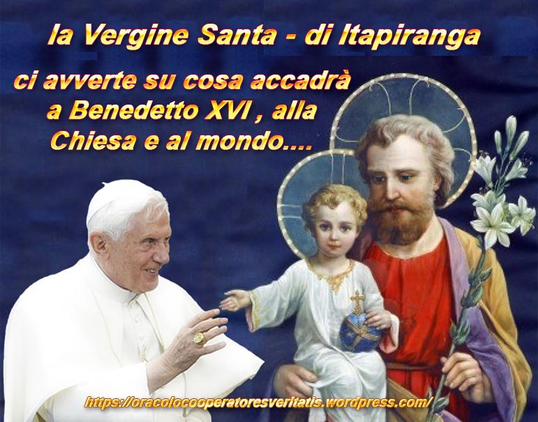 Itapiranga: con la morte di Benedetto XVI il diavolo si scatenerà?