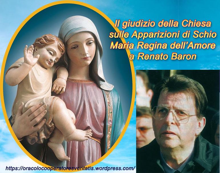 Il Movimento Mariano Regina dell'Amore è raccomandato dal Vescovo…